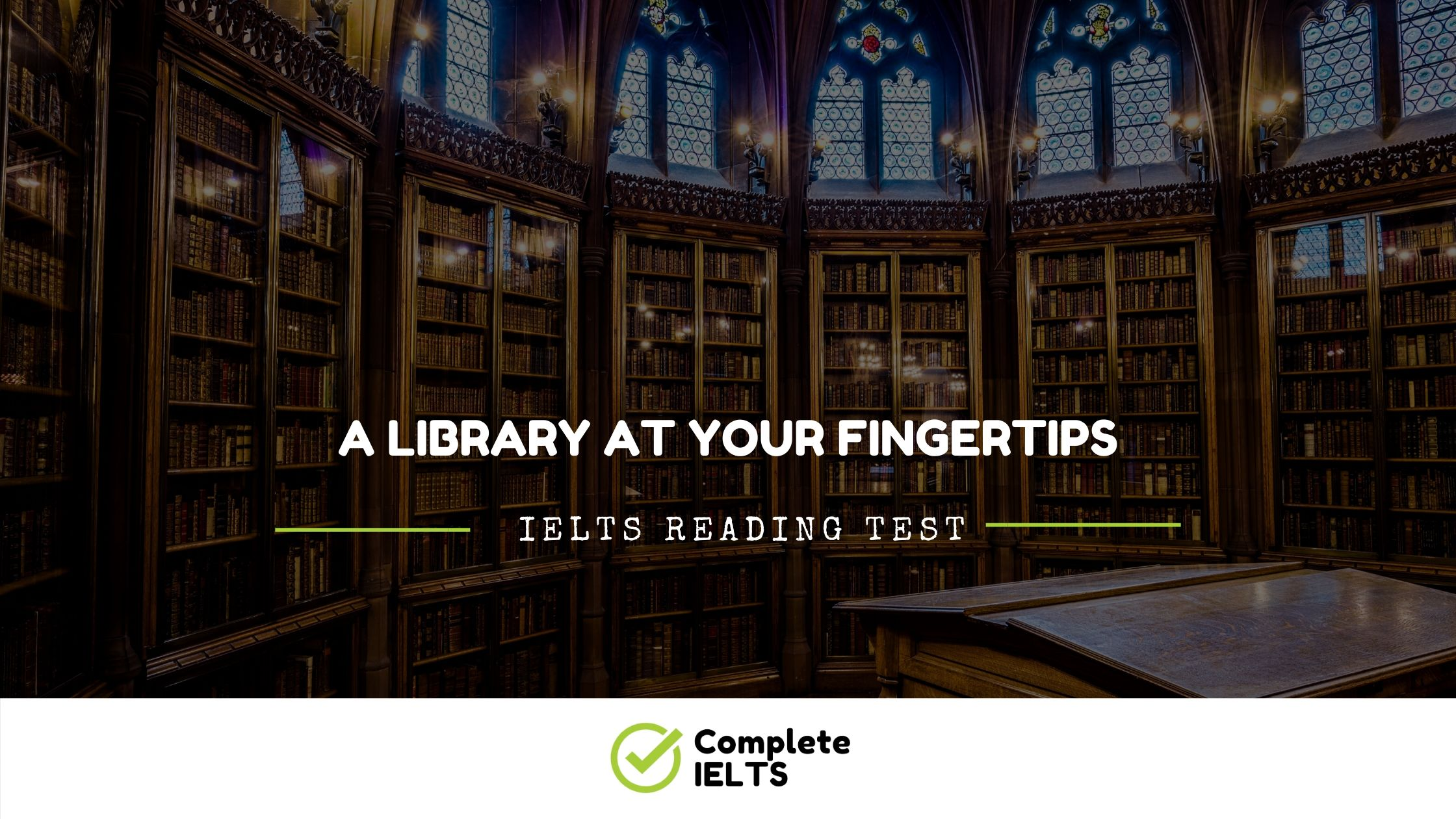 A LIBRARY AT YOUR FINGERTIPS