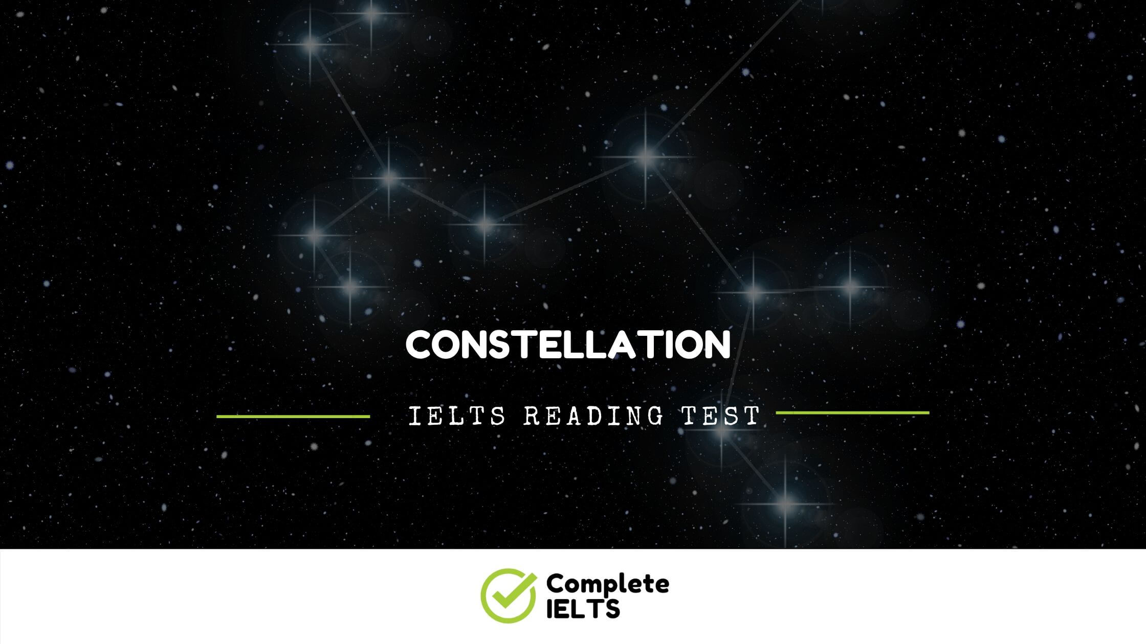 Constellation | IELTS Academic Reading Sample Question