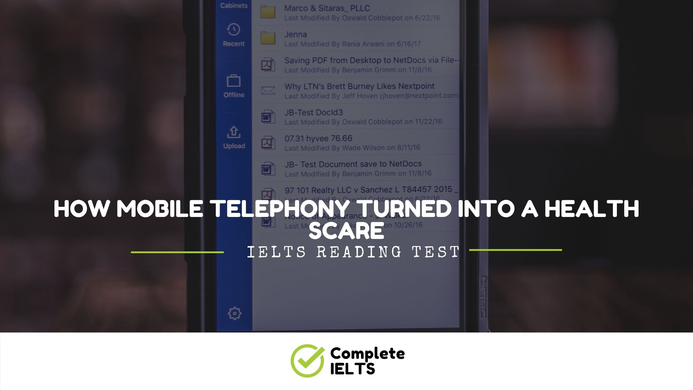 How Mobile Telephony Turned into a Health Scare | IELTS Academic Reading Sample Question