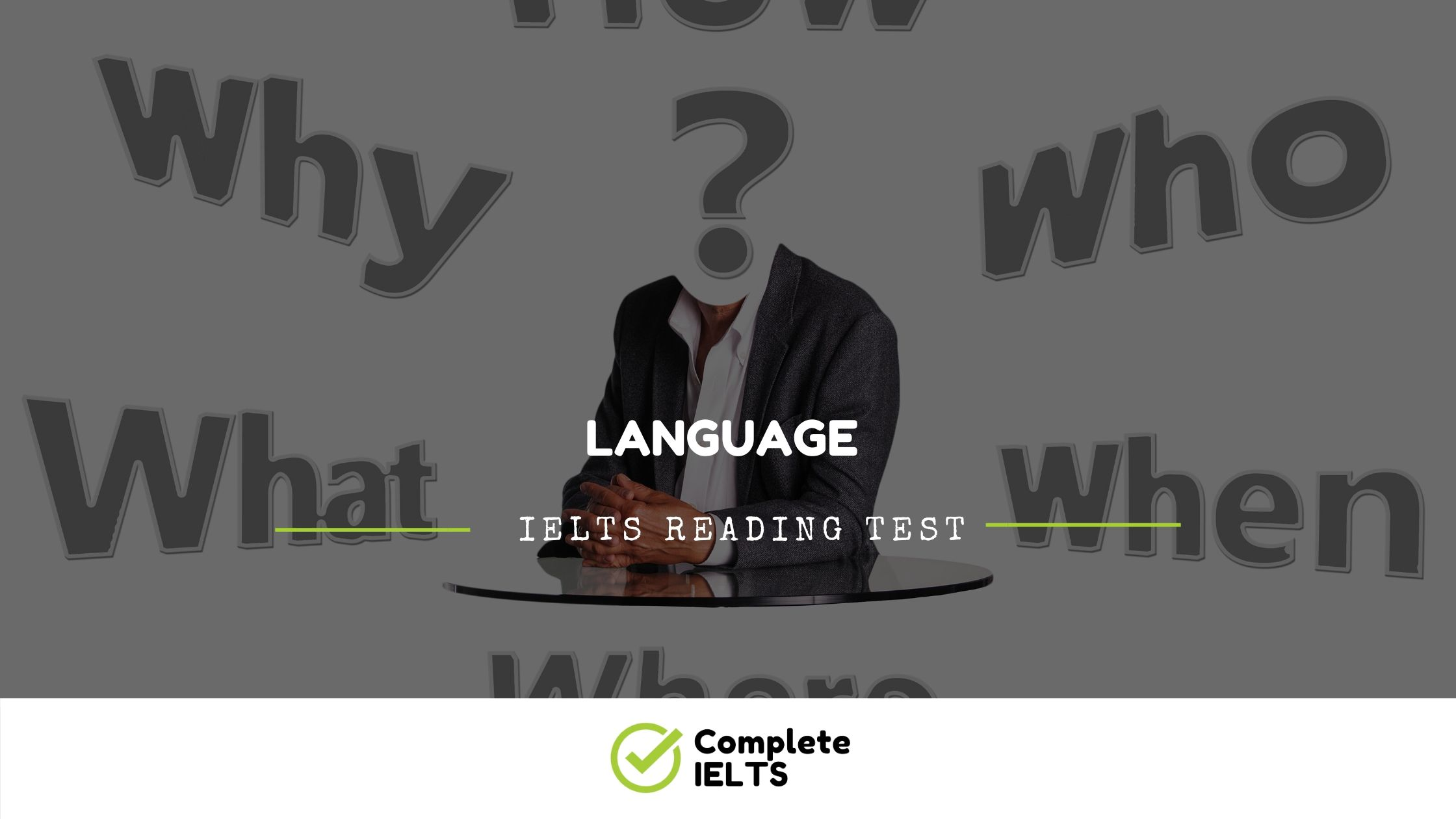 Language | IELTS Academic Reading Sample Question