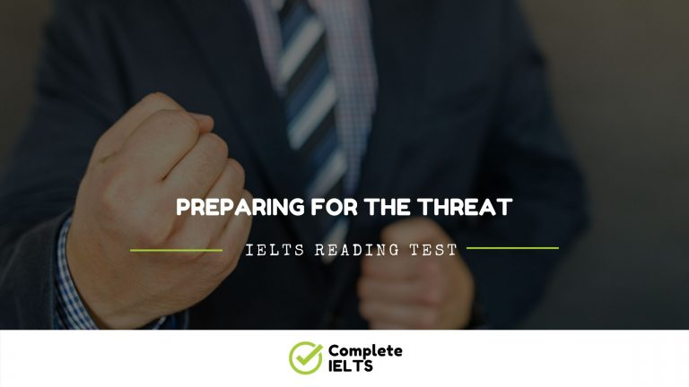 PREPARING FOR THE THREAT