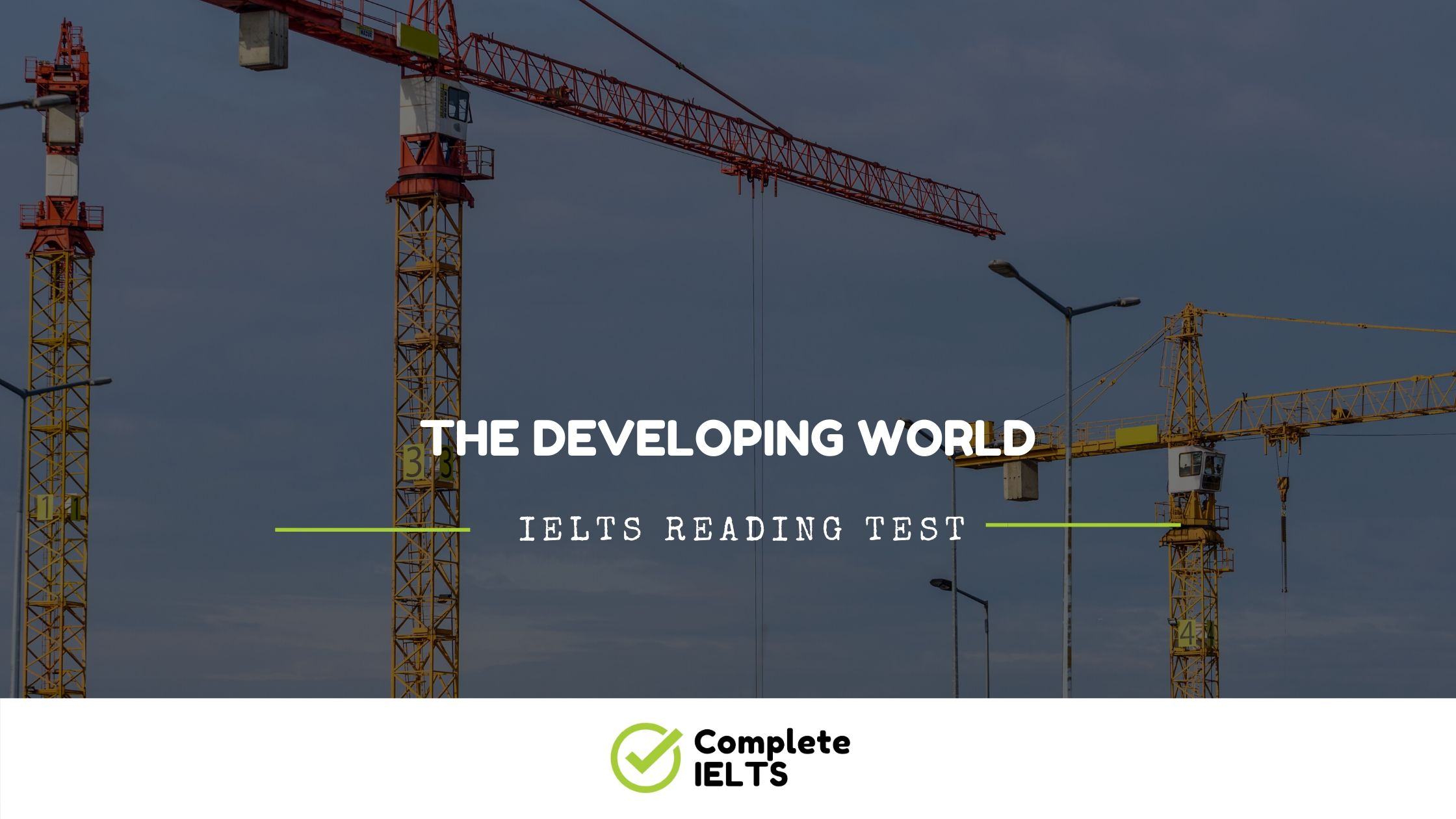 THE DEVELOPING WORLD | IELTS Academic Reading Sample Question