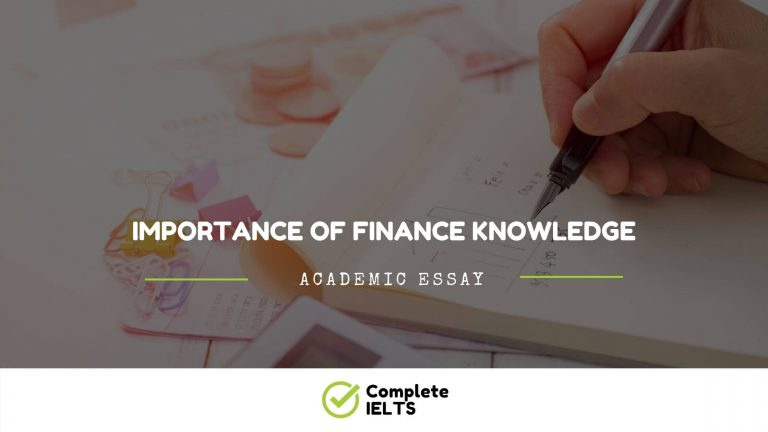 Essay on Importance of Finance Knowledge