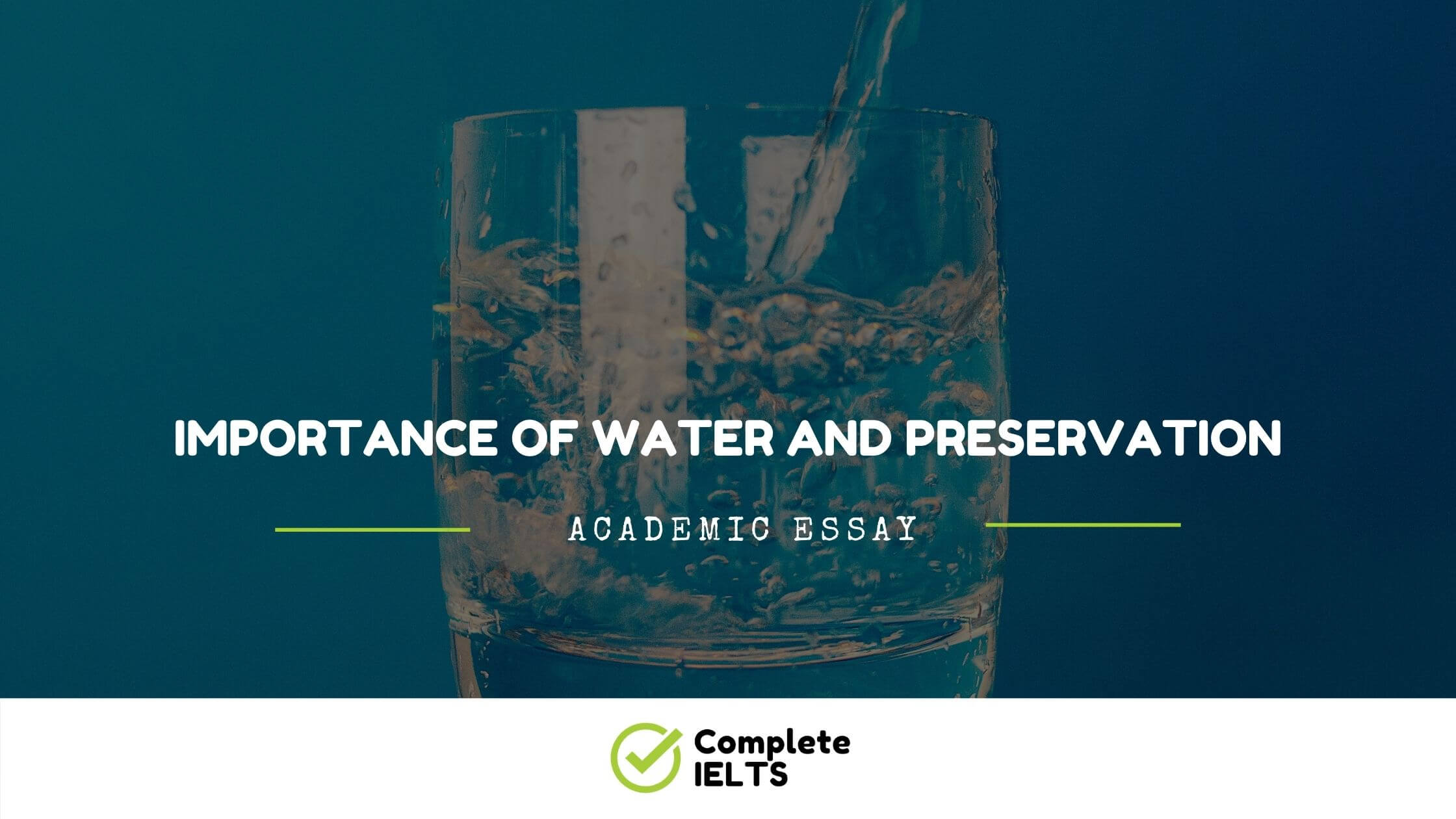 Essay on Importance of water and preservation