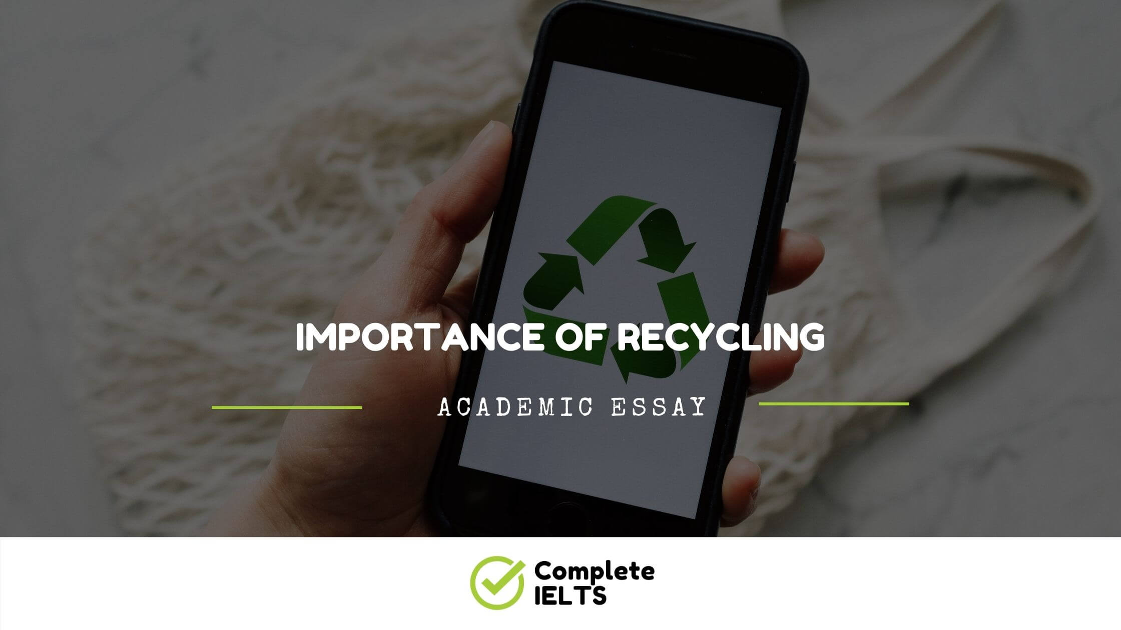 Essay on Importance of Recycling